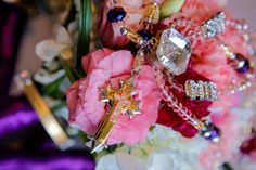 Wedding Cord on Bouquet