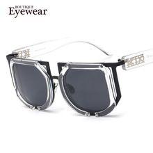 Hombres BOUTIQUE de Primera versión versión Gótico Square Punk Retro Colorido Lentes Reflectantes Moda gafas de Sol de Las Mujeres UV400(China (Mainland))