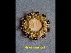 DIY Beading tutorial - Embedded cabochons using pearls, drops and seed b...