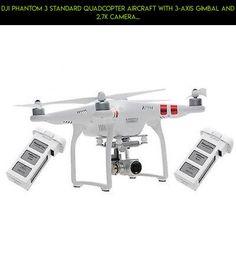 DJI Phantom 3 Standard Quadcopter Aircraft with 3-Axis Gimbal and 2.7k Camera... #camera #fpv #tech #technology #racing #products #standard #kit #quadcopter #3 #shopping #parts #gadgets #phantom #dji #drone #aircraft #plans
