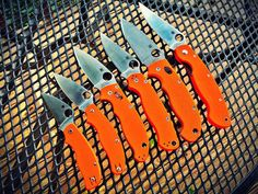 Spyderco Knives: Orange Edition by solidorange