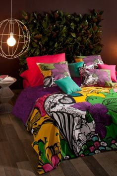 Discover the Desigual Floralia Duvet Cover - Lime Green - Single at Amara Green Bed Linen, Linen Bedding, Bedding Sets, Rainbow Bedding, Bed Linen Online, Luxury Duvet Covers, Bedroom Bed, Bedroom Ideas, Bedrooms