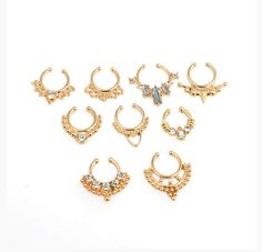 PART OF THE TRIBE COLLECTION -- FAUX SEPTUM PIERCINGS