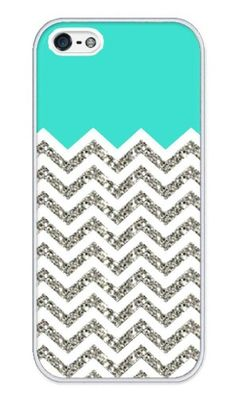 The glittery silver and white chevron pattern looks awesome contrasted with the turquoise on this phone case. This has been a popular pattern for girls this past summer especially in home decorations, so seeing it on an iPhone case drew me to its pattern immediately. Gender: Female.