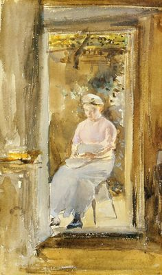 James McNeill Whistler, (American, 1834-1903) Shelling Peas, 1883 or 1884