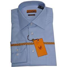 Rakuten.com - Enzo Tovare Men's Blue Twill Barrel-cuff Dress Shirt French Cuff Shirts, Shirt Cuff, Dress Shirt, Barrel, Mens Tops, Blue, Shopping, Dresses, Fashion
