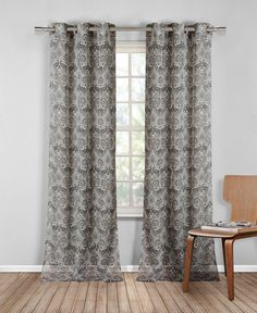 French Riviera Linen Look Grommet Curtain Panels