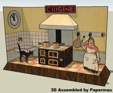 PAPERMAU: Le Cuisine - A French Vintage Paper Model - by Agence Eureka