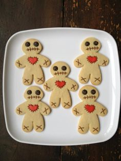 use gingerbread cookie cutter to make voodoo doll!