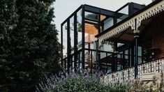 Architecture studio Bence Mulcahy has added a black steel-framed glass extension to a villa in Mount Stuart, Tasmania. Architecture Awards, Residential Architecture, Interior Architecture, Cultural Architecture, Interior Design, Glass Extension, Glass Facades, Ground Floor Plan, Casement Windows