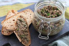 Recette - Rillettes végétariennes aux champignons en vidéo Tofu, Hummus, Food And Drink, Vegan, Papier Absorbant, Cooking, Ethnic Recipes, Ayurveda, Foodies