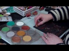 ▶ How to use Metallic Pan Pastels and create Faux metal effects 2 by Nikky Hall, Polkadoodles - YouTube