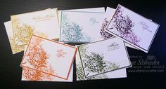 Notes of Kindness - @stampinup  Blooming with Kindness meets the New Incolours and Note Cards. Love making these card sets! #stampinup #2014InColor #notecard