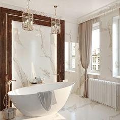 Penthouse modern de lux - Creativ-Interior Interior Projects, Beautiful Interior Design, Classic Bathroom, Bathroom Interior, Bathroom Decor, Interior, Beautiful Bathrooms, Bathroom Interior Design, House Interior