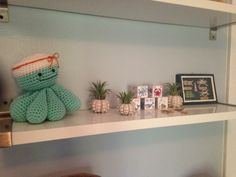 nautical nursery, knit octopus sailor, baby blocks, sea urchin air plants, nautical knots
