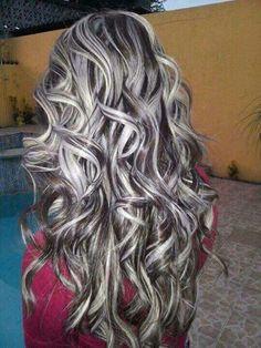 Hair color highlights and lowlights black 68 Ideas Gray Hair Highlights, Colored Highlights, Subtle Highlights, Grey Balayage, Balayage Hair, Long Gray Hair, Brown Blonde Hair, Hair Color And Cut, Cool Hair Color