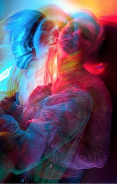 Kele multiple-exposure photography by Mike Monaghan, Book II. Double Exposition, Photoshop, Color Photography, Colourful Photography, Neon Lights Photography, Motion Blur Photography, Double Exposure Photography, Psycho Photography, Photography Of People
