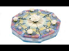 Geld falten Torte: Hochzeitsgeschenk selber basteln, DIY Anleitung - YouTube