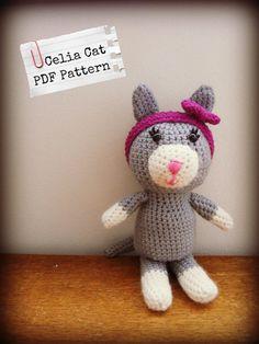 Celia Cat  Crochet Pattern PDF by LittlePandCompany on Etsy