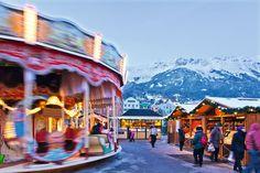 Mercadillo navideño, en Innsbruck, Austria.