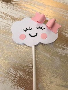 Add these adorable cloud cupcake toppers on your upcoming baby shower or birthday celebration. Girl Birthday Themes, Rainbow Birthday Party, Unicorn Birthday Parties, Unicorn Party, Baby Birthday, Baby Shower Parties, Baby Boy Shower, Cloud Party, Baby Shawer