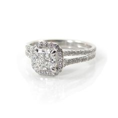 Split Shank, Halo engagement ring. Give me an asscher or cushion cut center stone and it's my dream ring!
