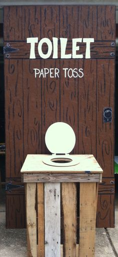 Toilet Paper Toss carnival game