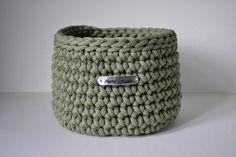 Olive green colour basket, rope crochet basket, storage basket, home decor by iKNITSTORE on Etsy Olive Green Color, Storage Baskets, House Warming, I Shop, Gifts, Handmade, Favors, Craft, Presents