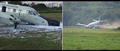 InfoNavWeb                       Informação, Notícias,Videos, Diversão, Games e Tecnologia.  : Avião capota ao tentar decolar em São Paulo