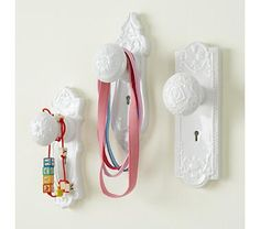 Painted doorknob hooks