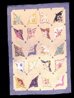 Beautiful Handkerchief Butterfly quilt  Need to look for hankies!