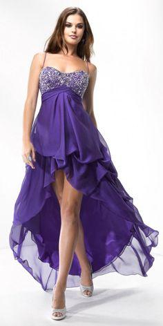 prom dresses high low