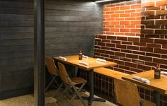 Celebrity chef and owner of Mabel's BBQ, Michael Symon teamed up with Richardson Design​ in Cleveland, Ohio to specify our HAI shou sugi ban charred cypress interior wall cladding.