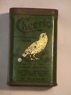 Vintage Original Cheerio Health Food Supreme Bird Food Tin | so sweet!!