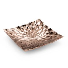 Create a modern-chic centerpiece with this square bowl, boasting a rich coppery hue and eye-catching faceted finish. Copper And Marble, Pink Marble, Copper Metal, Low Centerpieces, Centerpiece Decorations, Copper Blush, Copper Material, Calming Colors, Plates And Bowls