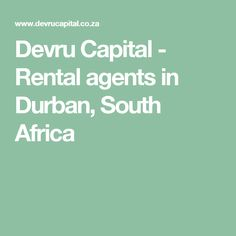 Devru Capital - Rental agents in Durban, South Africa South Africa