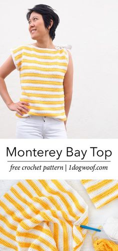 How to change colors when crocheting stripes without cutting your yarn. www.1dogwoof.com