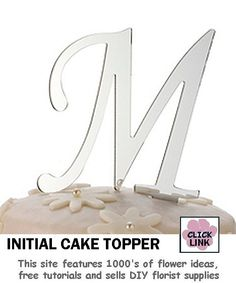 Mirror Initials for Wedding Cakes $6.99 each letter