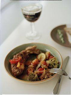Stoofpotje van lam Pasta Salad, Stew, Lamb, Crockpot, Slow Cooker, Pork, Meat, Cooking, Ethnic Recipes