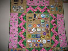 Badge Quilt- this is perfect for all Ashlyn's badges that won't fit on her sash.