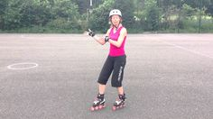 How to stop on skates using a Lunge Stop tutorial on rollerblades or qua...