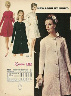 Evening Coat by McCalls Patterns 1966