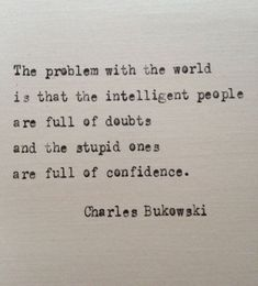 Citation de Charles Bukowski sur l& de BookoftheDad sur Etsy - Quotes - # # Typed Quotes, Poetry Quotes, Wisdom Quotes, Words Quotes, Wise Words, Quotes To Live By, Me Quotes, Sayings, Doubt Quotes