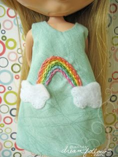 Embroidered rainbow