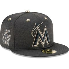 Miami Marlins New Era 2017 MLB All-Star Game Side Patch Low Profile 59FIFTY Fitted Hat - Heathered Black