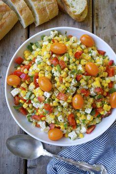 Recipe: Summer Gratitude Corn & Feta Salad | In Pursuit of More.  Summer salad time is coming!