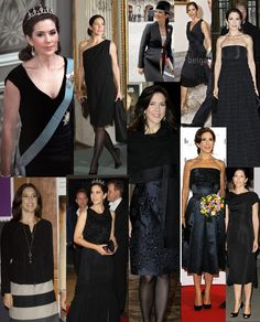 Crown Princess Mary in Black