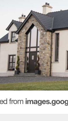 Most popular modern brick house exterior stones Ideas Bungalow Exterior, Bungalow House Design, Dream House Exterior, House Cladding, Facade House, Modern Brick House, Dormer House, Rendered Houses, Summer House Interiors