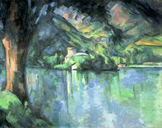 Paul Cezanne -Le Lac d'Annecy, 1896 (oil on canvas)