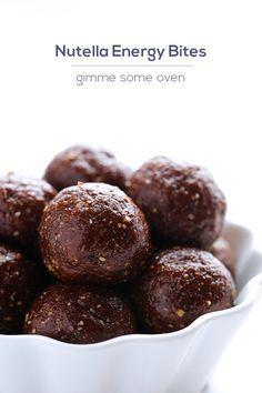 Nutella Energy Bites   gimmesomeoven.com